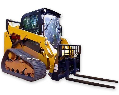 Skid steers fork attachment