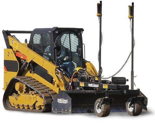 Skid steer grader attachment